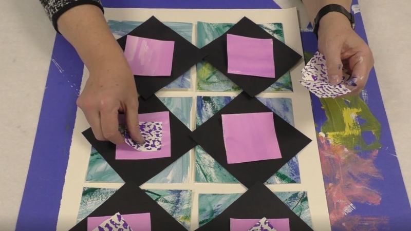 Art Express Virtual Workshop: Paper Collage Quilt