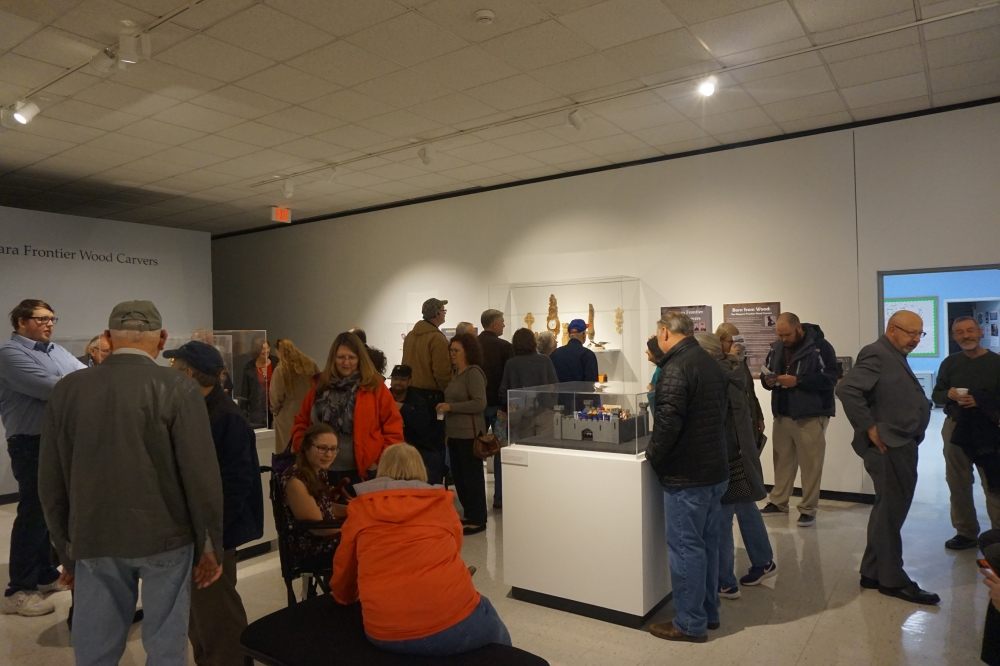 Opening reception of 2019's AHM357A exhibit with the Niagara Frontier Wood Carvers